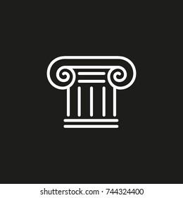 vector ancient capital logo