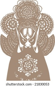 Vector of Ancient Character from Peking Opera