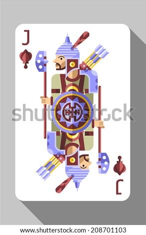 Vector Ancient China Symbols Decorations Playing Stock Vector