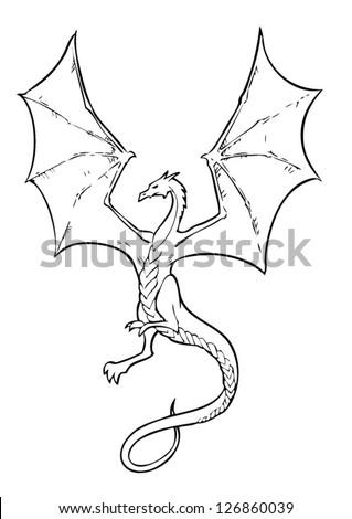 vector ancient chinese dragon pattern black stock vector royalty