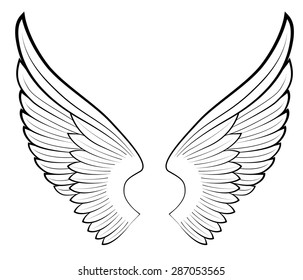 vector angel wings