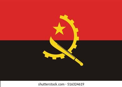 Vector Angola flag, Angola flag illustration, Angola flag picture, Angola flag image