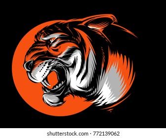 Vector Angry Tiger