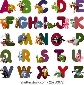 vector animal alphabet