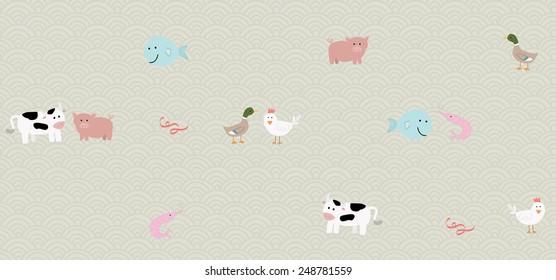 Vector animal pattern