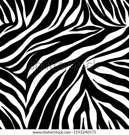 Image of: Zebra Skin Vector Animal Print Zebra Ornament Seamless Pattern Shutterstock Vector Animal Print Zebra Ornament Seamless Stock Vector royalty