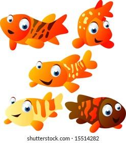 vector animal set 26 : koi fish
