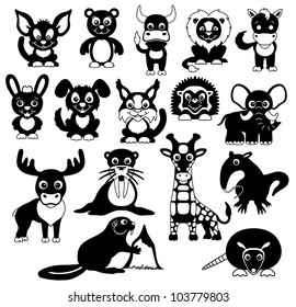 Vector. Animals. 16 icons.
