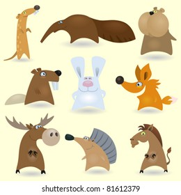 Vector animals set #2