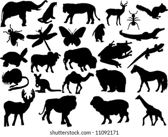 vector animals shapes
