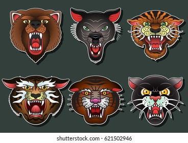Similar Images Stock Photos Vectors Of Tiger Face Sticker