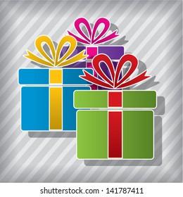 vector anniversary gift boxes symbol