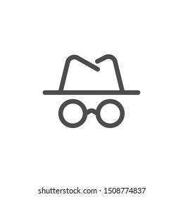 vector anonymous man line icon