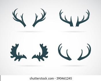 Vector antler icon set on white background, Vector antler for your design,