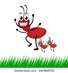 vector of ants and two of their children