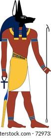Vector Anubis, an ancient Egyptian god