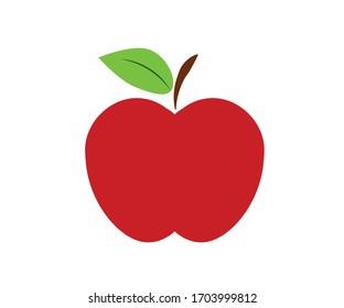 Vector apple icon design with vitamin composition.