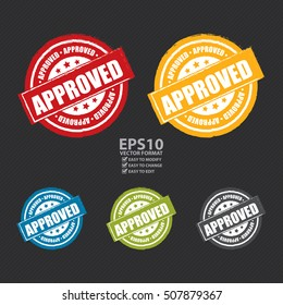 Vector : Approved Label, Sticker or Icon