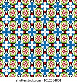 vector arabesque, seamless geometric pattern, abstract floral background