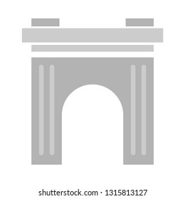 vector arch icon. arc gate logo isolated
