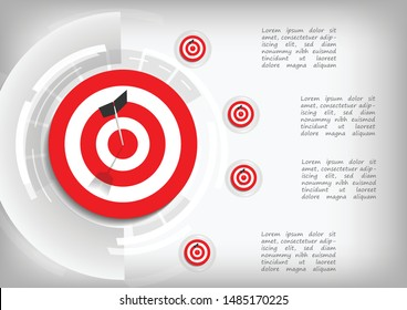 Vector : Archery target with business goal infographic