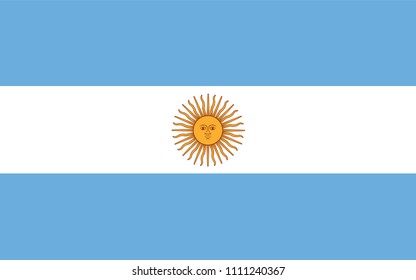 vector of argentina flag