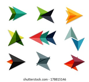 Vector arrow business geometric stickers for business background | numbered banners | business lines | graphic website