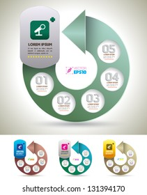 Vector Arrow Circles For Business Concepts With Icons Can Use Info Graphic Administrator