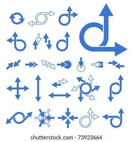 Vector Arrow Signs Collection