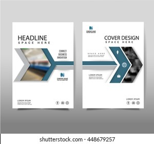 Vector arrow symbol annual report leaflet Brochure Flyer template A4 size design. Modern style for book cover magazine layout design, Abstract background presentation templates.