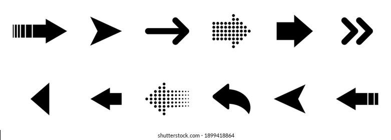 Vector arrows collection. Arrows icon. Arrow vector icon. Arrows vector collection