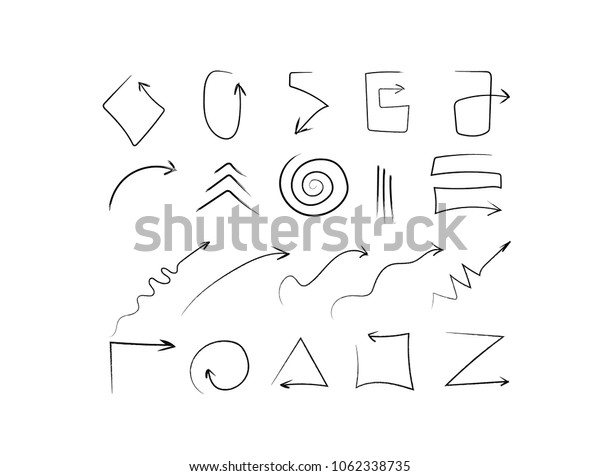 Vector arrows of different shapes