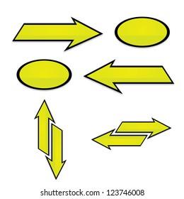 vector arrows. green arrows icon set. collection of arrows for design.