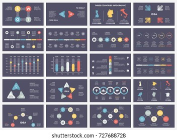 Vector arrows infographic, diagram chart, graph presentation. Business report with 3, 4, 5, 6, 7, 8 options, parts, steps, processes. Timeline map. Data analytics. Percentage status. Growth success - Shutterstock ID 727688728