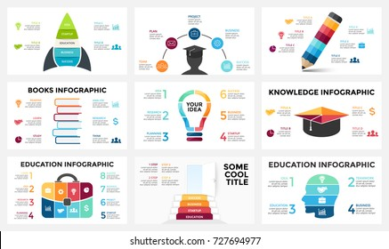 Vector arrows infographic, diagram chart, graph presentation. Business report with 3, 4, 5, 6, 7, 8 options, parts, steps, processes. Timeline map. Data analytics. Percentage status. Growth success