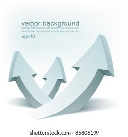 Vector arrows, logo design