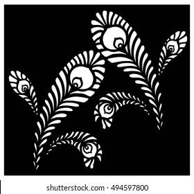Vector Art of Beautiful leafs (Peacock wings)