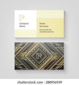 Art deco business card images stock photos vectors shutterstock vector art deco business card template high quality design element colourmoves