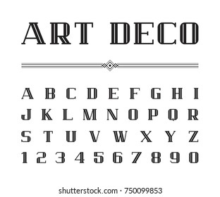 Vector of Art Deco font and alphabet, Blod letters set. The Great Gatsby Style