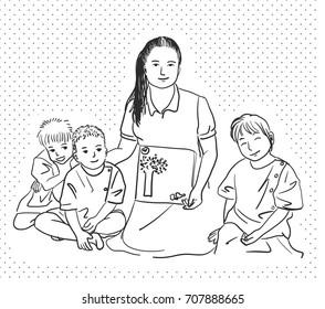 Art Teacher Drawing