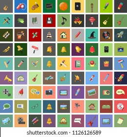 vector art icons. graphic design concept - drawing and painting tools, illustrations sign symbols. music icons