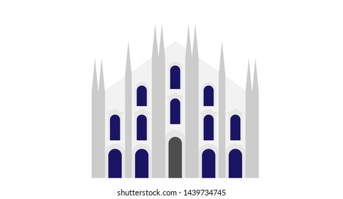 Vector art of milan cathedral