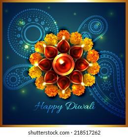 Vector artistic background of diwali