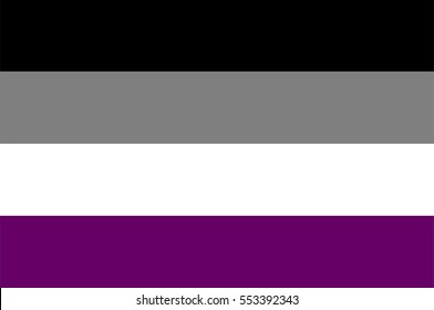 Vector Asexual Flag. Symbol or emblem of asexual people, man and woman.