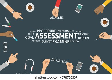 vector assessment concept, template
