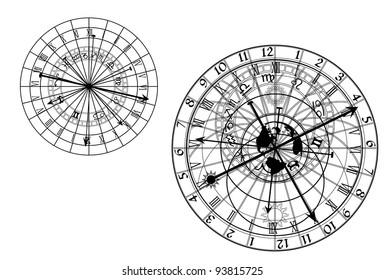 vector astronomical clock