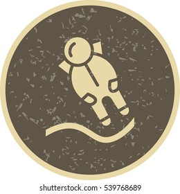 Vector Astronout Landing Icon