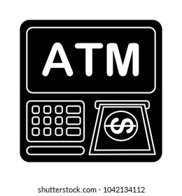 vector atm machine - bank icon - money payment - cash or credit card
