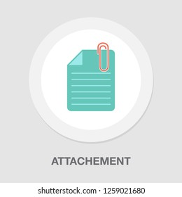 vector attachement icon. document symbol with paper clip. attach