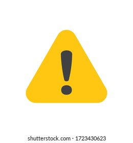 Vector attention sign with exclamation mark icon. Danger symbol. Flat Vector. Risk sign.
